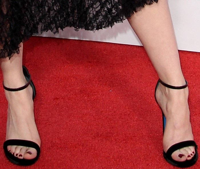 Madelaine Petsch shows off her pretty feet on the red carpet