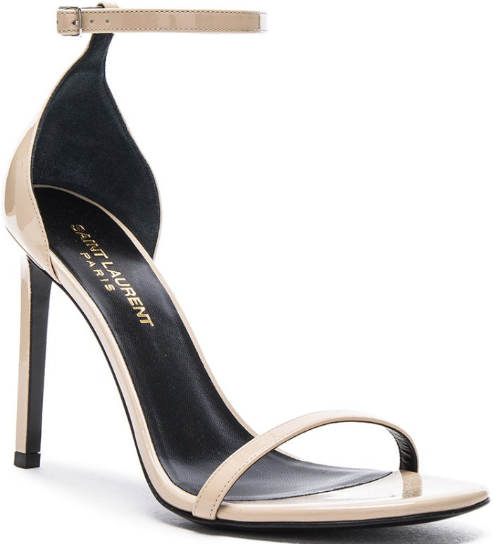"Saint Laurent ""Jane"" sandals in poudre"