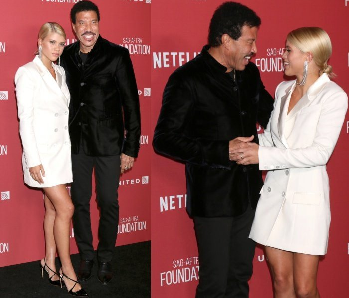 Sofia Richie with dad Lionel Richie at the SAG-AFTRA Foundation Patron of the Artists Awards