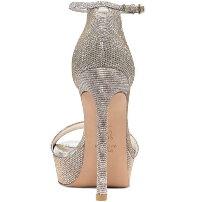 """Stuart Weitzman """"Sohot"""" sandals in iridescent gray"""