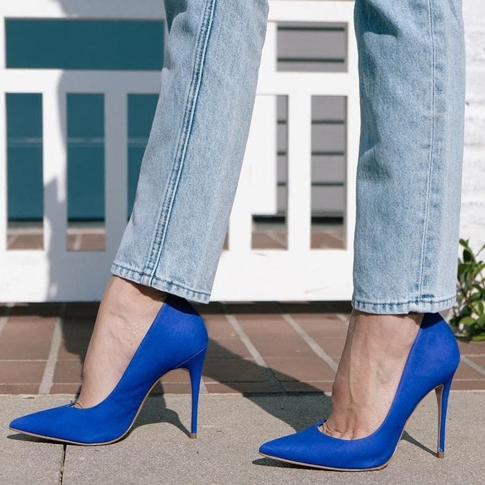 The blue Cassedy pump will help you get ready for your big debut with style