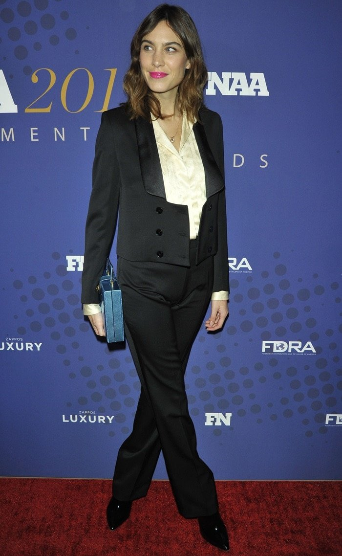 Alexa Chung attended the 31st FN Achievement Awards at the IAC Headquarters in New York City on November 28, 2017