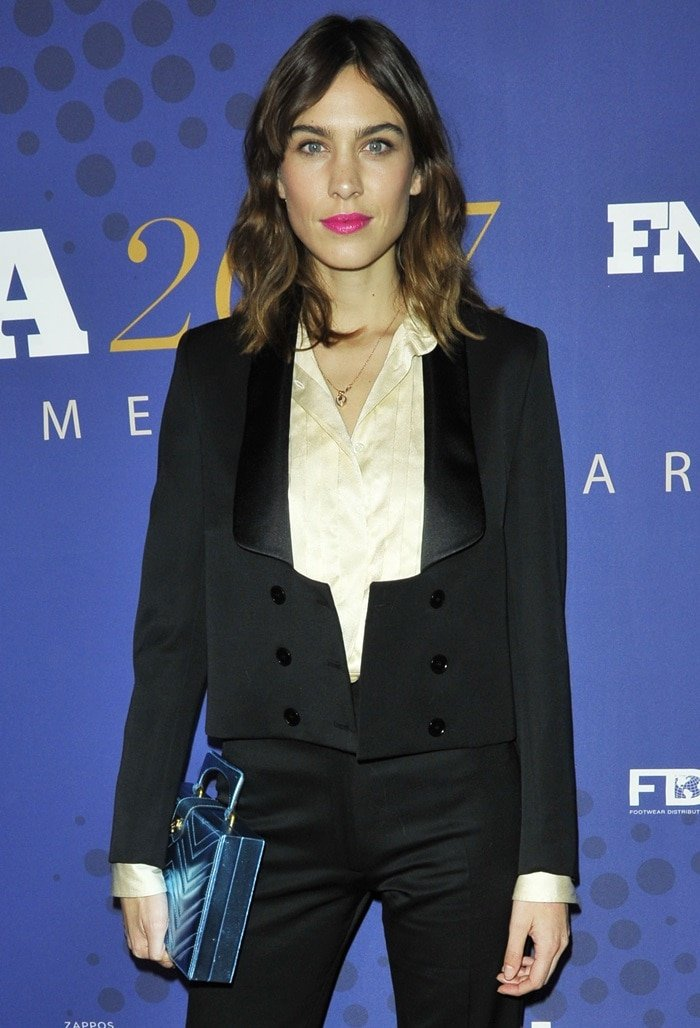 Alexa attended the 31st FN Achievement Awards in a tuxedo look from her Fall 2017 collection