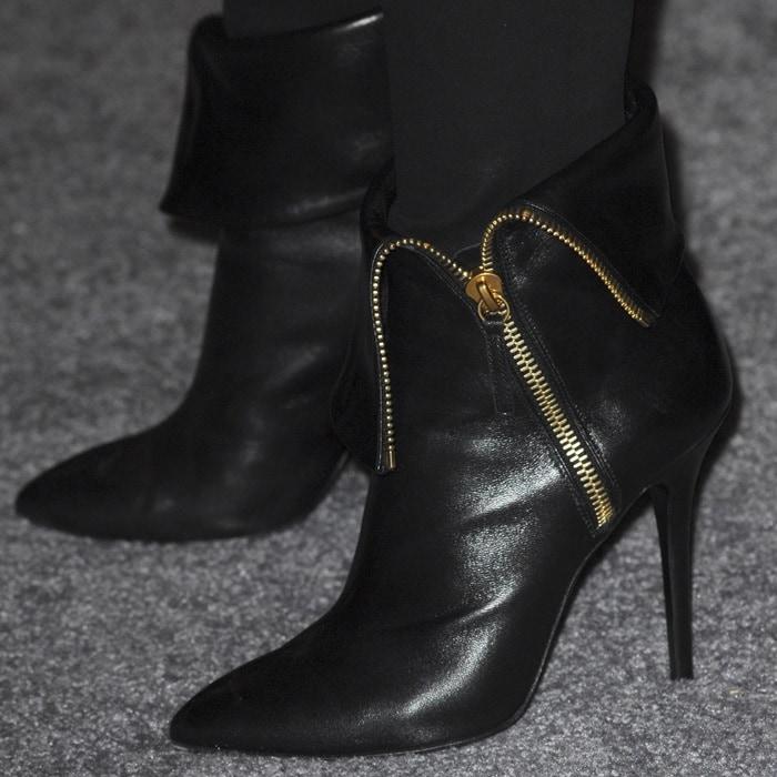 Alicia Keys rocks Giuseppe Zanotti booties