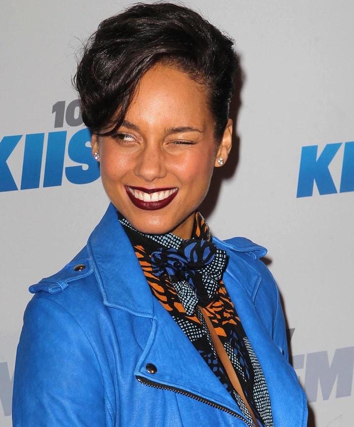 Alicia Keys at KIIS FM's 2012 Jingle Ball held at Nokia Theatre L.A. Live, Los Angeles, California, on December 3, 2012