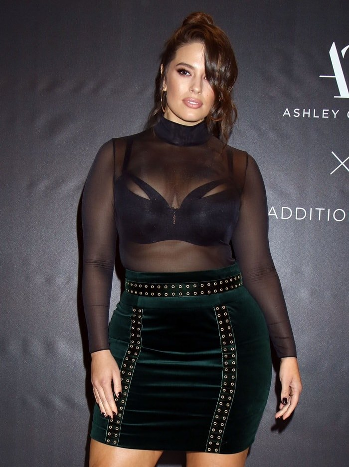 Model, Designer and Body-Positive Activist Ashley Graham brings her latest lingerie collection to Macy's Fashion show mall in Las Vegas on November 29, 2017