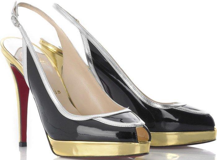 "Christian Louboutin ""Fox Trot"" Peep Toe Platform Sandals"