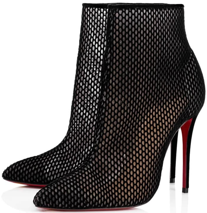 Christian Louboutin Gipsy in Fine Black Fishnet