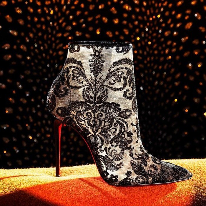 Christian Louboutin Gipsy in Black Marquise Lace