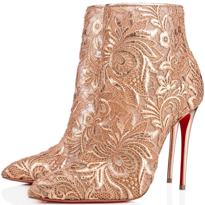 Christian Louboutin Gipsy in Romantic Nu Guipure Lace