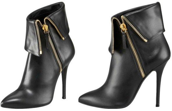 Giuseppe Zanotti Fold-Over Zip Ankle Boot in Black