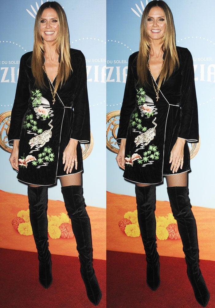 "Heidi rocks the Rixo London ""Iris"" short kimono dress"