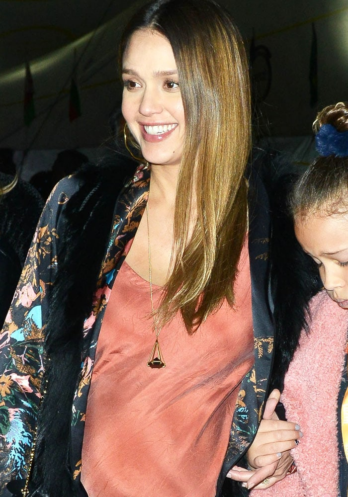 Jessica Alba takes her children to see Cirque Du Soleil 'Luzia' show in Los Angeles on December 13, 2017