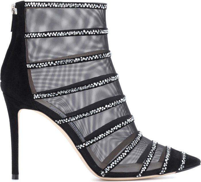 "Jimmy Choo ""Belle"" Mesh Booties"