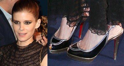 904cfaef2fa3 Kate Mara Packs Some PDA in Dior Dress and Christian Louboutin  Fox Trot   Sandals
