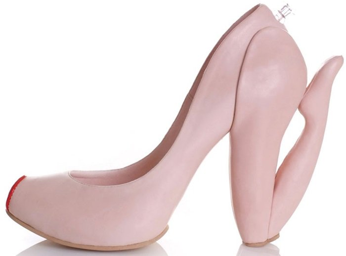 The 'Blow' shoe features a heel shaped as an inflatable sex doll