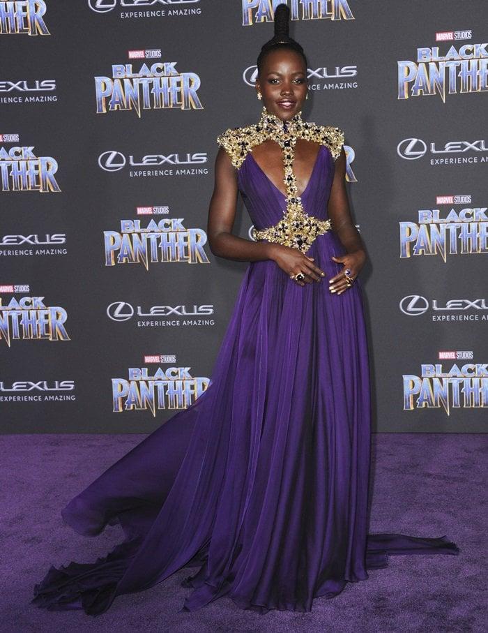 Lupita Nyong'oaccessorized with Beladora jewelry