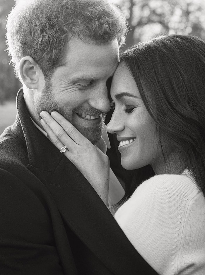 Prince Harry and Meghan Markle released their official engagement photos taken by Alexi Lubomirski at Frogmore House