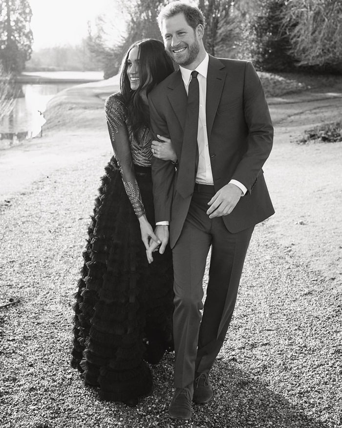 Shared by @kensingtonroyal with the caption 'Thank you so much for all of the wonderful comments following the release of Prince Harry and Ms. Meghan Markle's engagement photographs.The couple are so grateful for the warm and generous messages they have received during such a happy time in their lives.As a way to say thank you, they have decided to share this candid photograph from the day of their portrait sittings directly with all of you.'