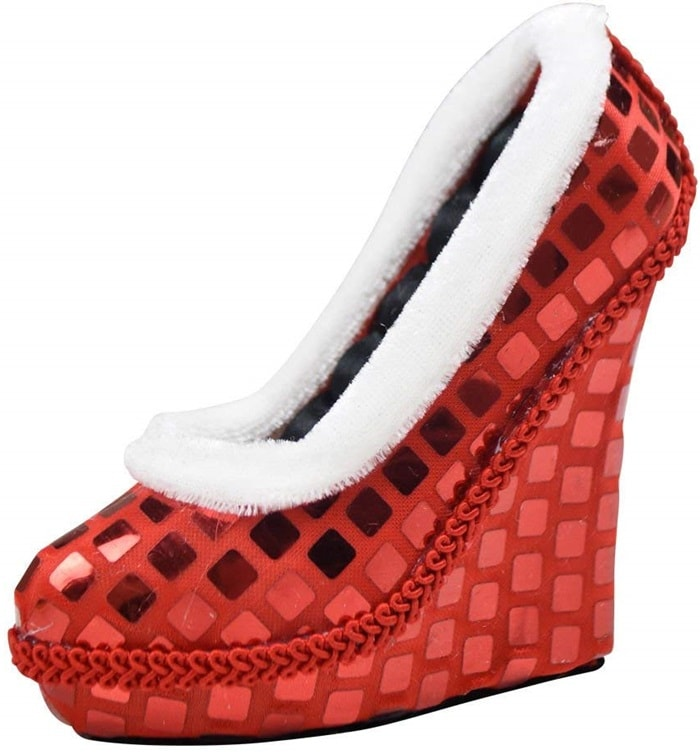 Red Sequin Shoe Ring Holder