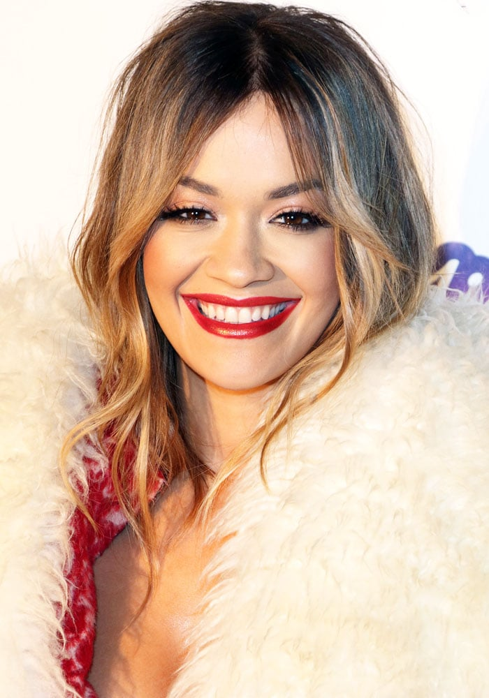 Rita Ora at Capital's Jingle Bell Ball with Coca-Cola at The O2, Peninsula Square, London on December 9, 2017