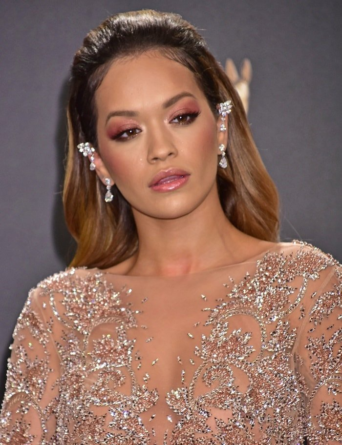 Ria Ora accessorized with diamond jewelry from Chopard for a glamorous look