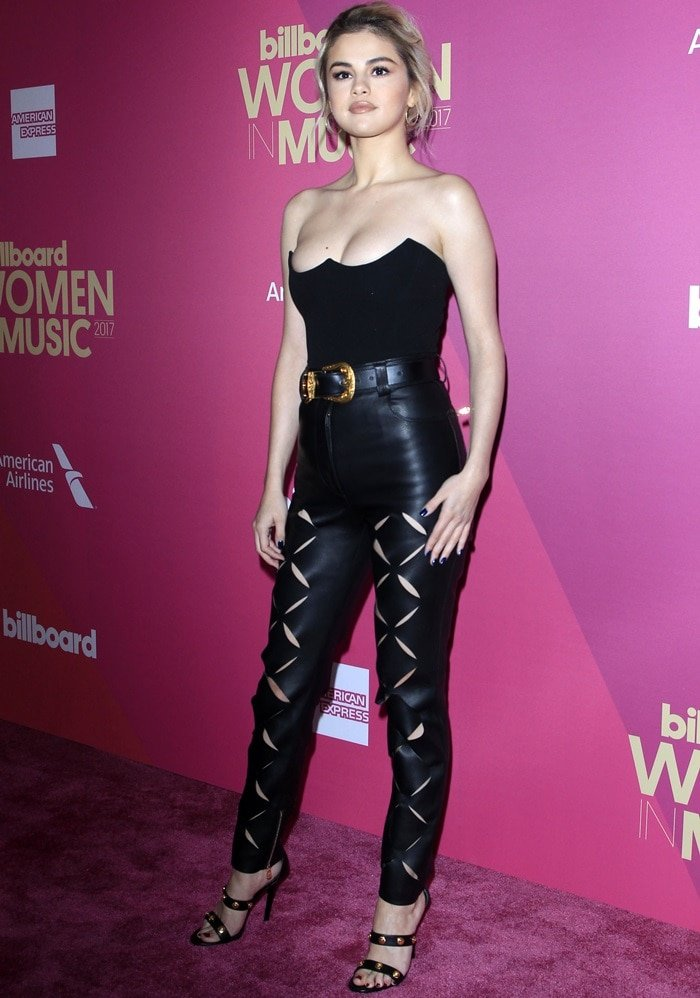Selena Gomez In Versace Tearfully Accepts Woman Of The