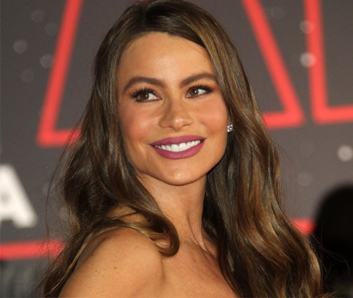 """Sofia Vergara at the premiere of """"Star Wars: The Last Jedi"""" at The Shrine Auditorium in Los Angeles, California on December 9, 2017"""