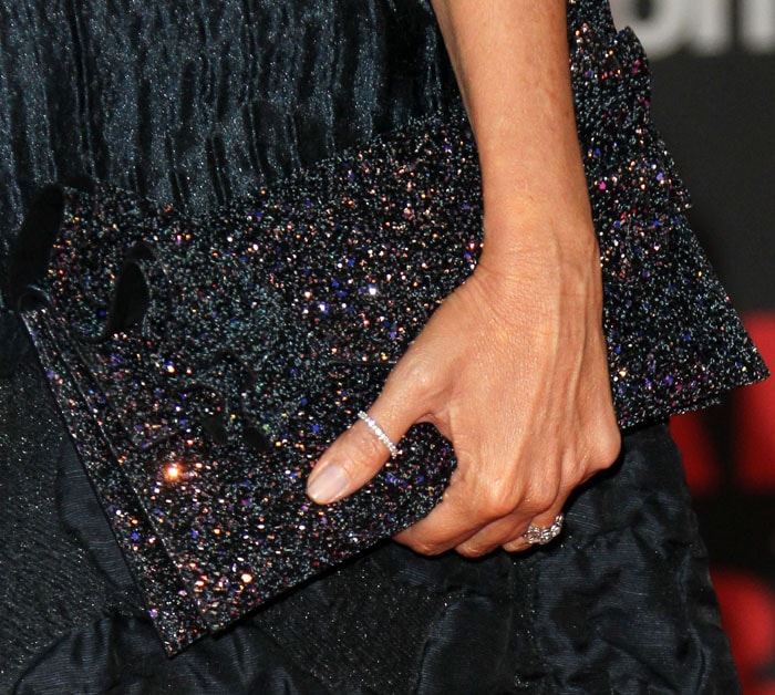 """Sofia's beautiful Jimmy Choo """"Isabella"""" clutch sparkled more up close"""
