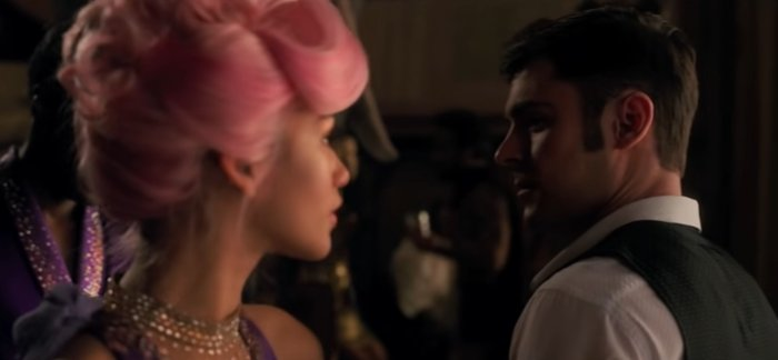 Zac Efron as Phillip Carlyle falls in love with African American trapeze artist Anne Wheeler