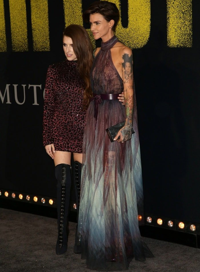 """Anna Kendrick and Ruby Rose at the """"Pitch Perfect 3"""" premiere"""
