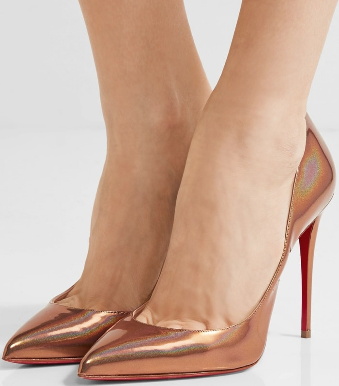 "Christian Louboutin ""Pigalle Follies"" pumps in iridescent bronze patent leather"