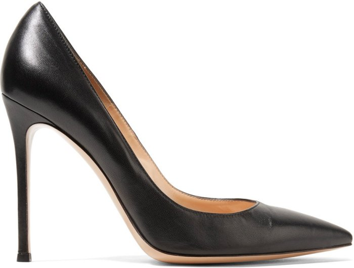 Gianvito Rossi 105 suede pumps in black leather