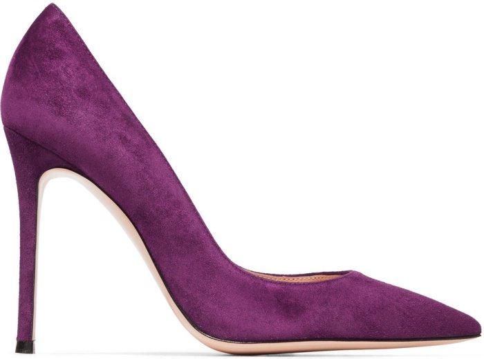 Gianvito Rossi 105 suede pumps in purple suede
