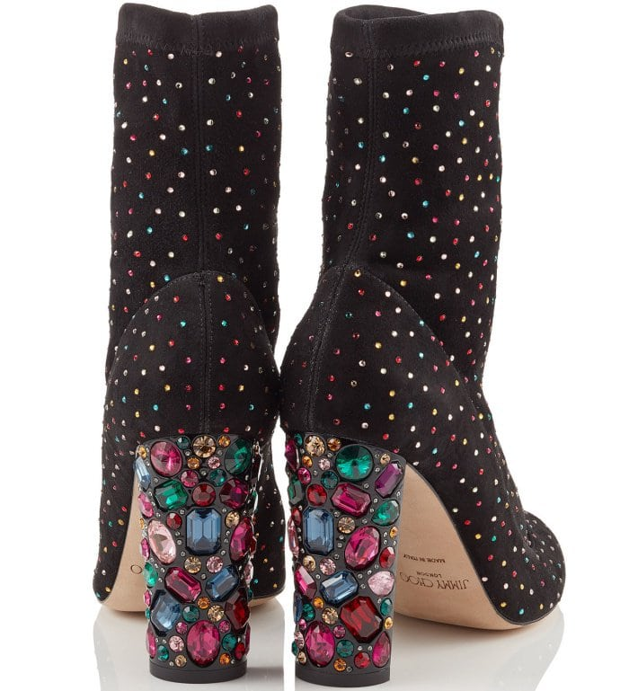 "Jimmy Choo ""Maine"" embellished booties"
