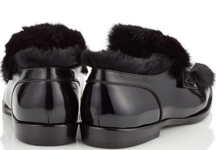 "Jimmy Choo ""Tedi/F"" loafers with rabbit fur"