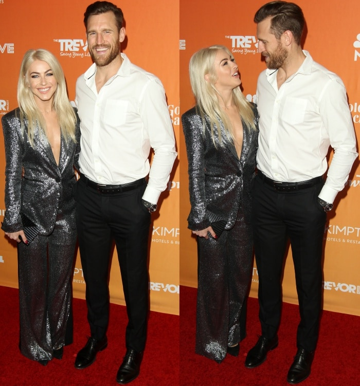 Julianne Hough with husband Brooks Laich at the TrevorLIVE LA event
