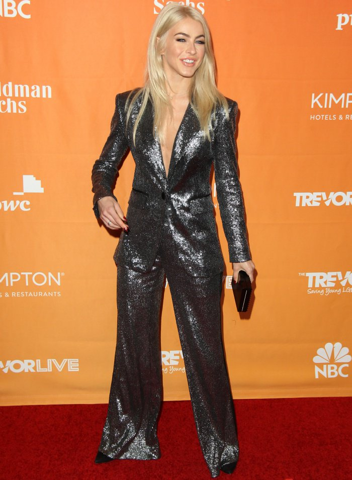 Julianne Hough toted a Lee Savage clutch