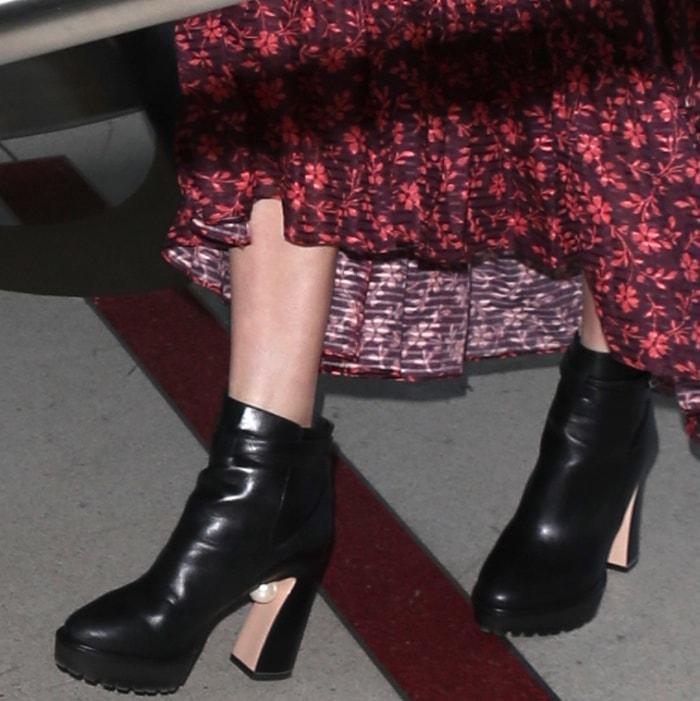 "Kate Bosworth wearing Nicholas Kirkwood ""Annabel"" boots at LAX"