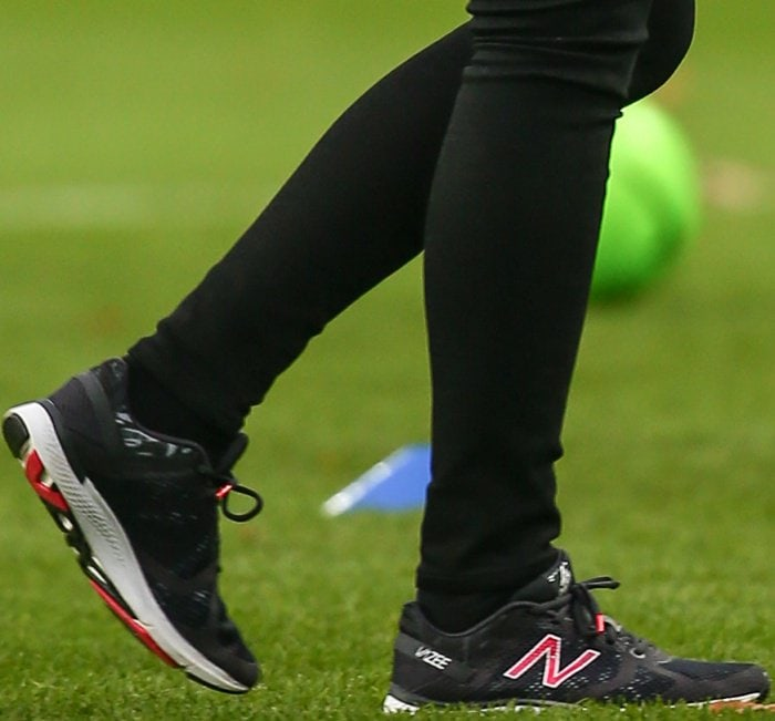 Kate Middleton wearing New Balance Vazee Transform x Sweaty Betty sneakers at the Aston Villa Football Club in Birmingham