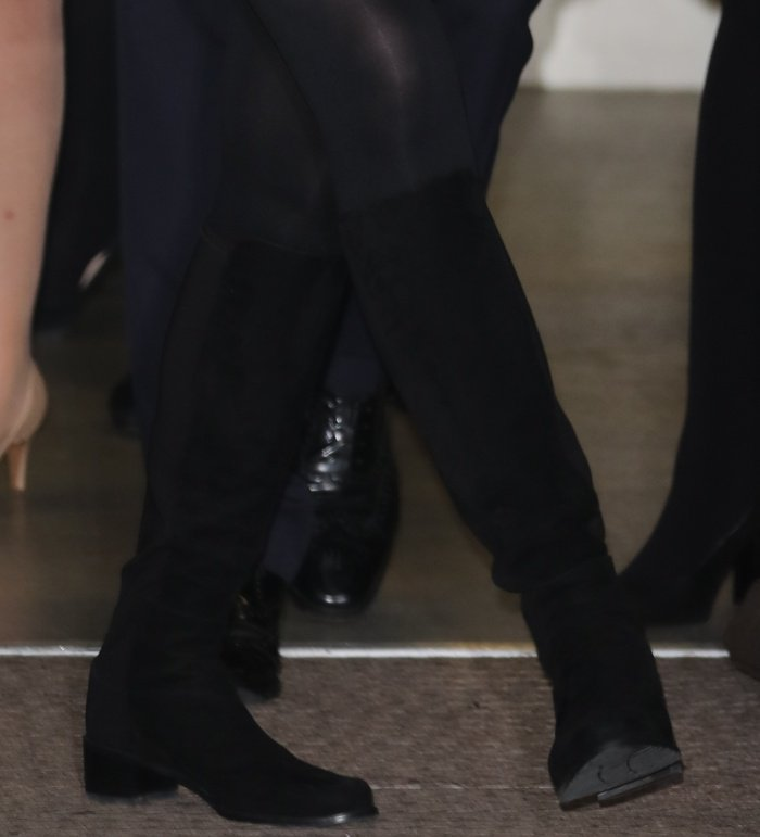Kate Middleton wearing Stuart Weitzman for Russell and Bromley HalfnHalf knee-high boots