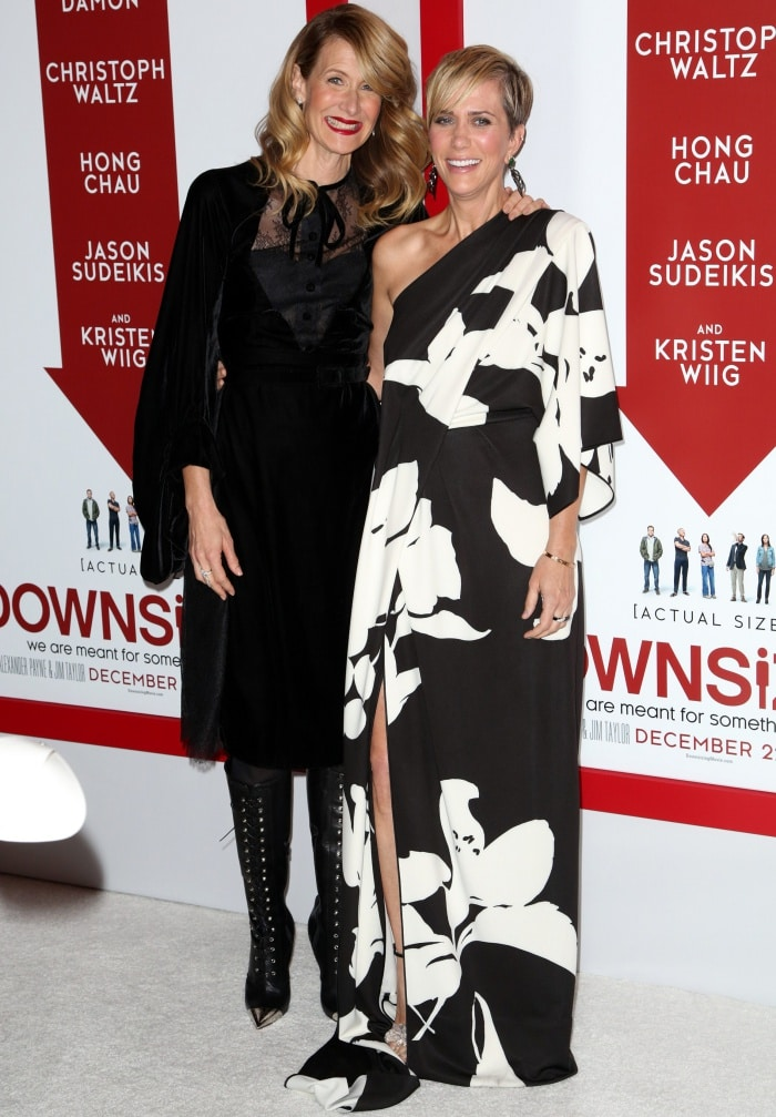 """Laura Dern and Kristen Wiig at the """"Downsizing"""" special screening in Los Angeles"""