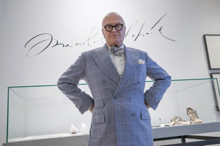 "Manolo Blahnik visits ""The Art of Shoes"" exhibition in Madrid, Spain"