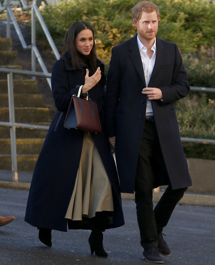 Meghan Markle and Prince Harry attending the Terrence Higgins Trust World AIDS Day event at the Nottingham Contemporary Centre