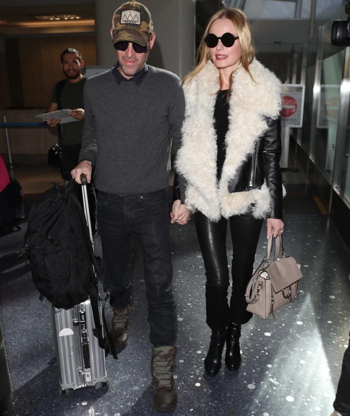Kate Bosworth with husband Michael Polish at LAX