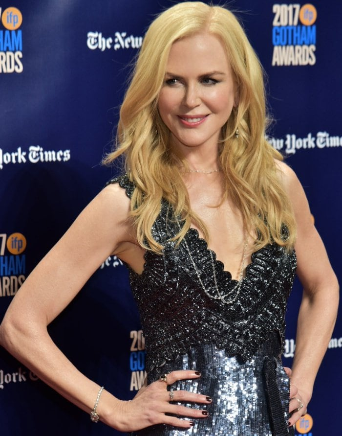 Nicole Kidman wearing an Altuzarra Spring 2018 dress at the 2017 Gotham Independent Film Awards