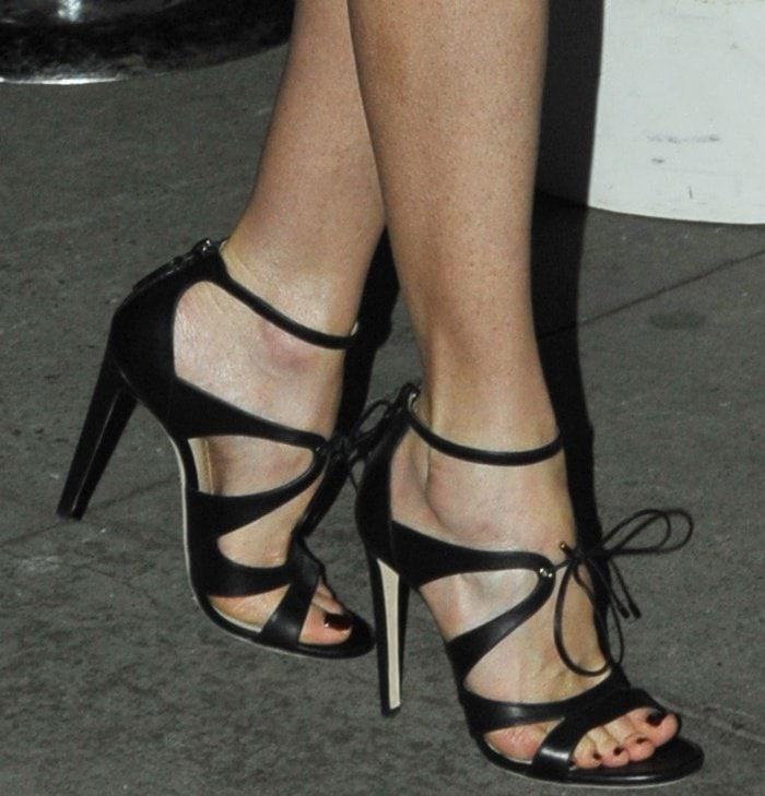 "Nicole Kidman wearing Chloe Gosselin ""Bryonia"" sandals at the 2017 Gotham Independent Film Awards"