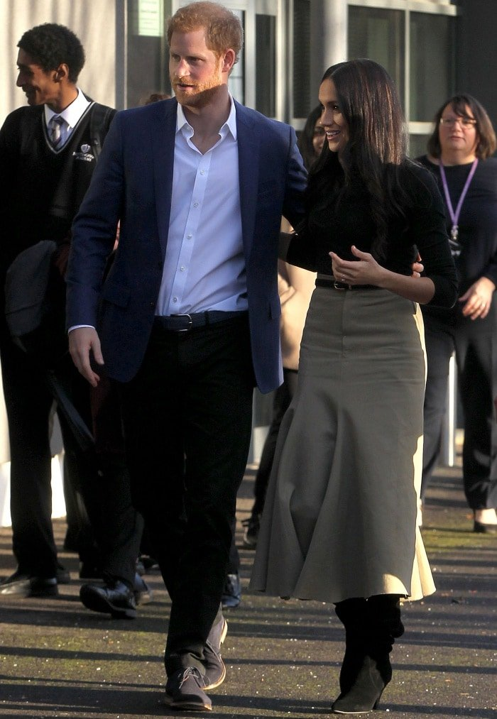 Prince Harry and Meghan Markle attending the Terrence Higgins Trust World AIDS Day event at the Nottingham Contemporary Centre