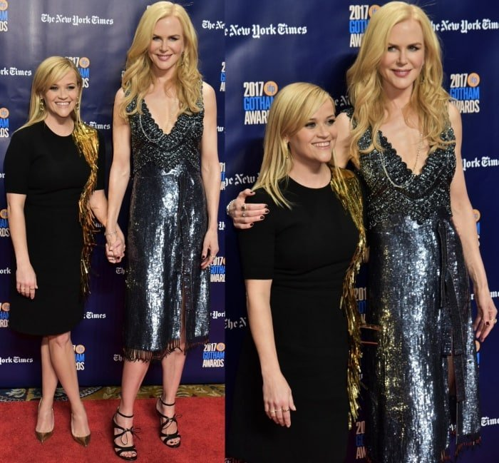 Reese Witherspoon and Nicole Kidman at the 2017 Gotham Independent Film Awards
