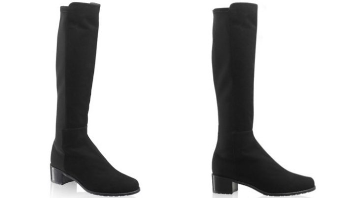 Stuart Weitzman for Russell and Bromley HalfnHalf stretch knee-high boots